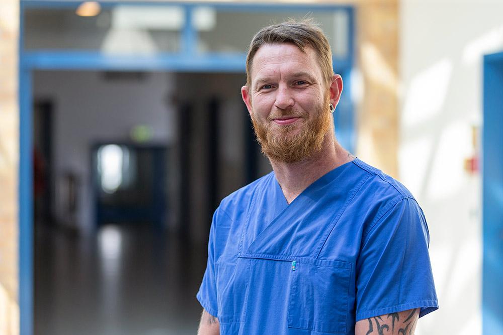 Domenik Raczynski Krankenpfleger Herzkatheterlabor