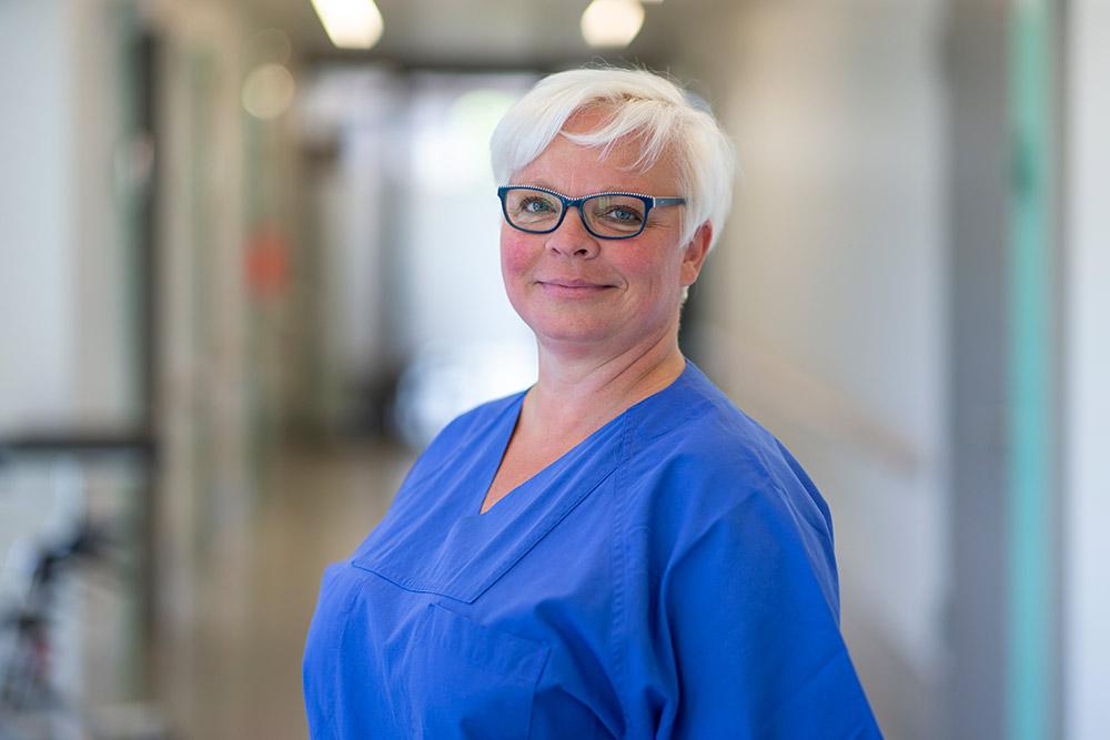 Yvette Georgi Krankenschwester Herzkatheterlabor